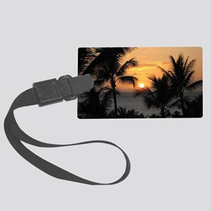 2-WaileaSunset_mug Large Luggage Tag