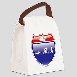 Triathlon-Miami-Shield-men Canvas Lunch Bag