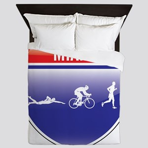 Triathlon-Miami-Shield-men Queen Duvet