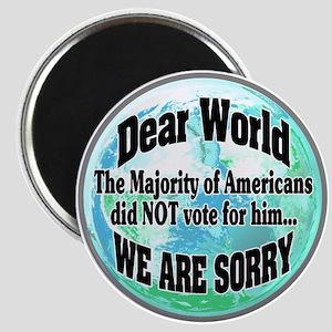 Dear World Sorry Magnets