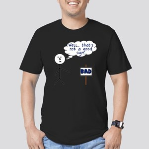 bad sign Men's Fitted T-Shirt (dark)