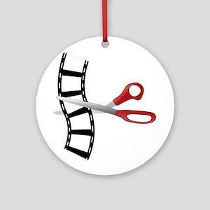 Filmstrip Edit Ornament (Round)