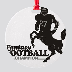 FFooball5 Round Ornament