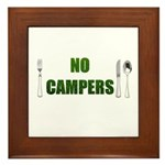 No Campers Framed Tile