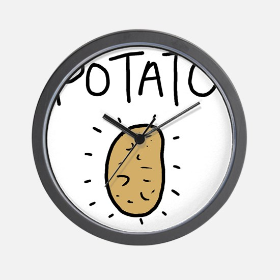 Kims Potato shirt Wall Clock