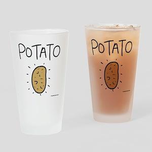 Kims Potato shirt Drinking Glass