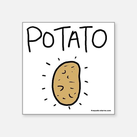 """Kims Potato shirt Square Sticker 3"""" x 3"""""""