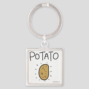 Kims Potato shirt Square Keychain