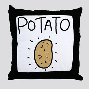 Kims Potato shirt Throw Pillow