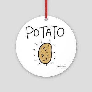 Kims Potato shirt Round Ornament