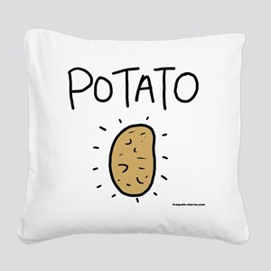 Kims Potato shirt Square Canvas Pillow