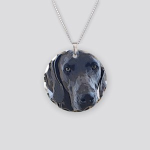 weim1 Necklace Circle Charm