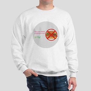 Go_Veg_round_3_14_2010 Sweatshirt