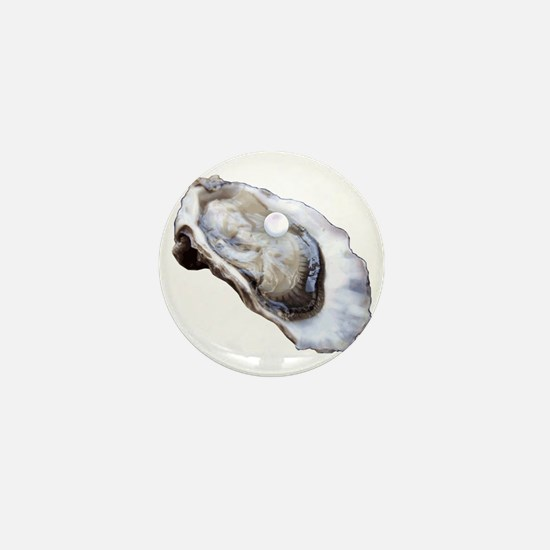 oyster with pearl Mini Button