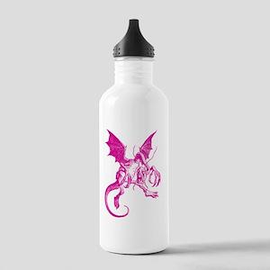 Jabberwocky Pink Stainless Water Bottle 1.0L