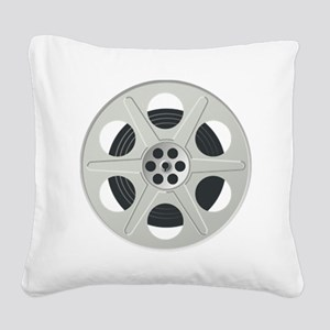 Movie Reel Square Canvas Pillow