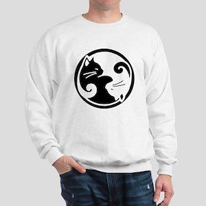 yin-yang-cats Sweatshirt