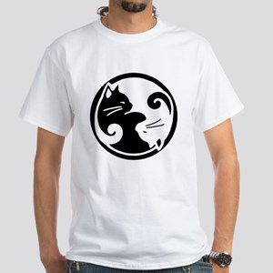 yin-yang-cats White T-Shirt