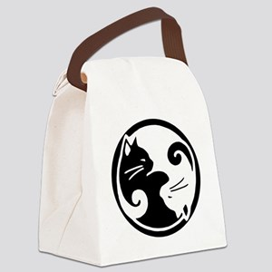 yin-yang-cats Canvas Lunch Bag