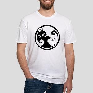 yin-yang-cats Fitted T-Shirt