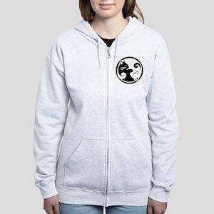 yin-yang-cats Women's Zip Hoodie