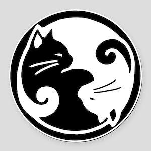 yin-yang-cats Round Car Magnet