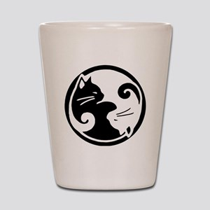 yin-yang-cats Shot Glass