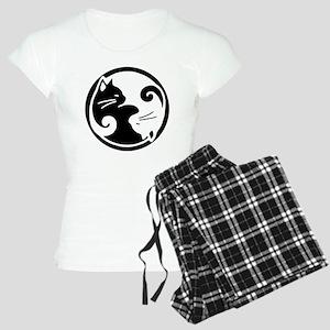 yin-yang-cats Women's Light Pajamas