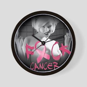 F-Cancer Wall Clock