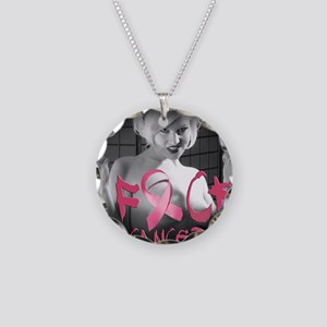 F-Cancer Necklace Circle Charm