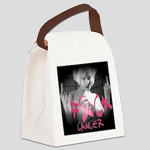 F-Cancer Canvas Lunch Bag