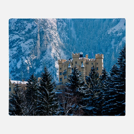 Germany Hohenschwangau Castle Throw Blanket