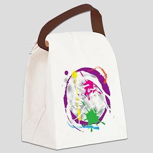 grunge irish dance black Canvas Lunch Bag