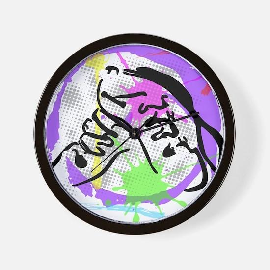 grunge irish dance Wall Clock