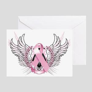 Awareness Tribal Pink Greeting Card