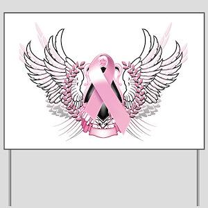 Awareness Tribal Pink Yard Sign