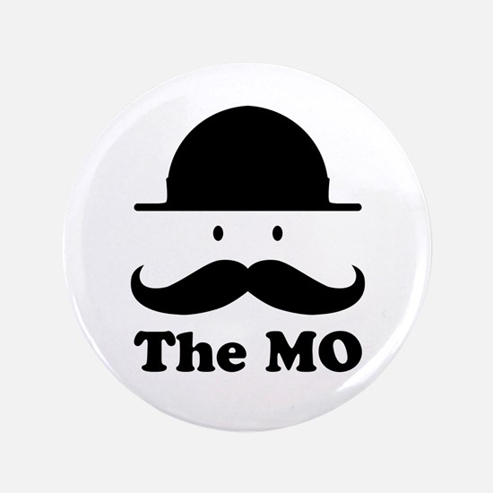 "Moustache graphic print 3.5"" Button"