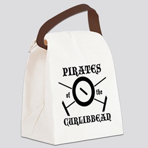 Curlibbean Black Canvas Lunch Bag