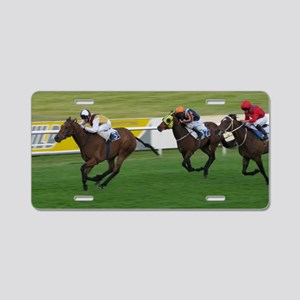 horse racing winning moves Aluminum License Plate