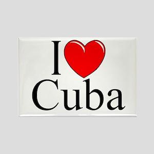"""I Love Cuba"" Rectangle Magnet"