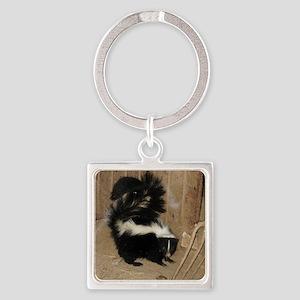 Baby Skunk Square Keychain