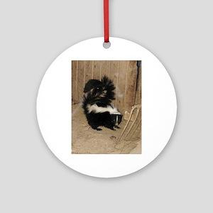 Baby Skunk Round Ornament