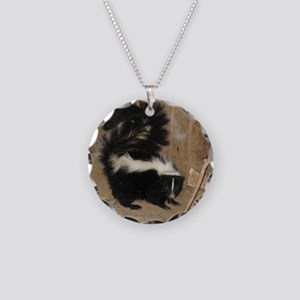 Baby Skunk Necklace Circle Charm