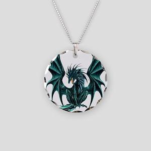 Jade Dragon Necklace Circle Charm