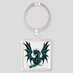 Jade Dragon Square Keychain