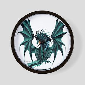 Jade Dragon Wall Clock