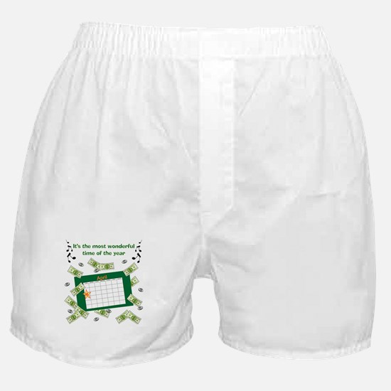 Income Tax Time Boxer Shorts