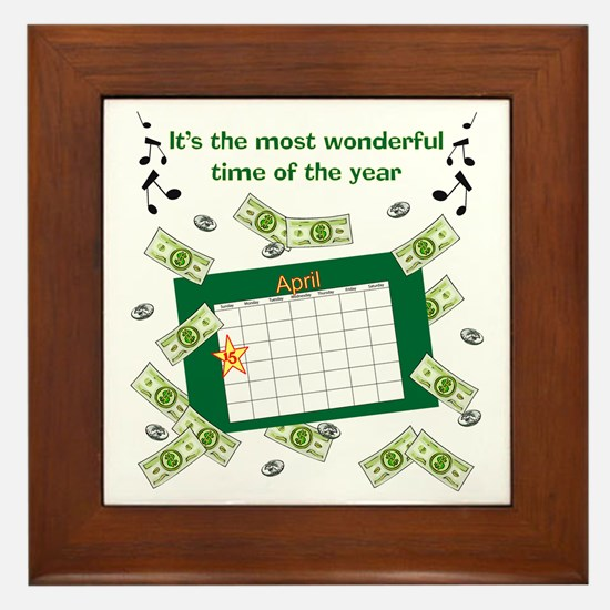 Income Tax Time Framed Tile