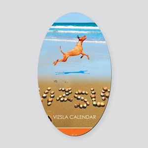 Beach_1_Cover Oval Car Magnet