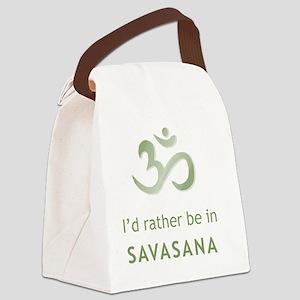 2-savasana Canvas Lunch Bag